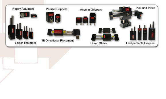 Air slides, linear actuators, linear slides, linear thrusters, pneumatic slides, precision slide, slide, thruster, linear clamps, air thruster, non-powered slide, guided linear motion, pneumatic actuators, air shuttle, isolation shuttles, shuttling devices, Escapements, Part feeding, Feeding, Feeder, Isolation, Isolation devices, Part isolation, Feeder bowl accessories, Vibratory bowl accessories, Part feeder, Part Feeders, non-rotating cylinders, non-rotating air cylinders, single finger escapements, double finger escapements, Air grippers, angular grippers, long stroke gripper, wide angle gripper, grippers, parallel grippers, pneumatic grippers, robotic grippers, robotic end effectors, two-finger grippers, three-finger grippers, 180 degree gripper, small grippers, miniature grippers, large grippers, toggle lock grippers, end-of-arm, end-of-arm tooling, end of arm, Rotary actuators, air rotation, pneumatic rotation, rotary motion, Bi-directional transfer, Bi-directional device, Bidirectional transfer device, multi-motion, tucker, air tucker, pneumatic tucker, tucking device, walking beam, pick and place, pick and place unit, pick-and-place, 3D CAD files, 2D CAD files, CAD library, automation products, automation components, precision part placement, automatic assembly equipment, automatic assembly components, custom designs